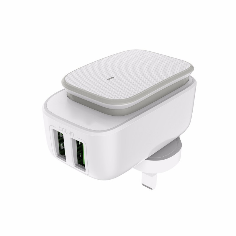 2 Port USB Adapter with Lightning Cable