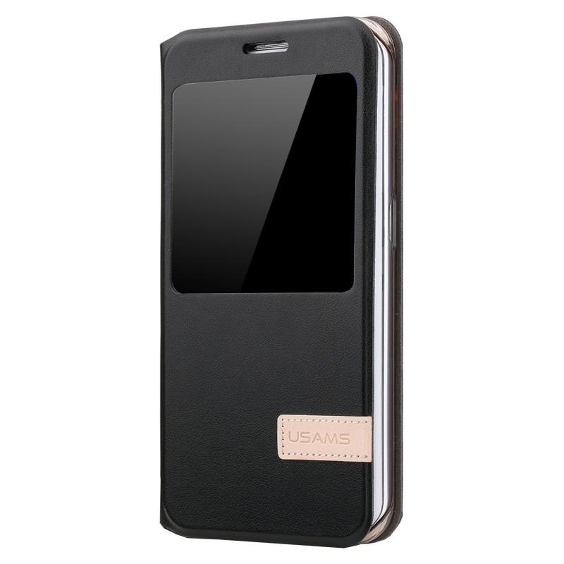 Premium PU Leather Folio Flip Case For Samsung Galaxy S6