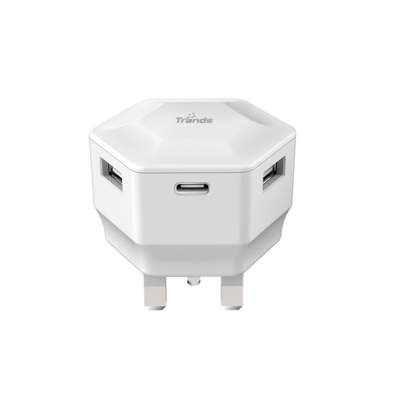 Dual Port Travel Charger With Type-C