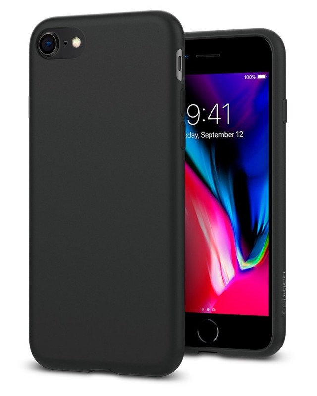 PU Hard Back Leather Case for iPhone 8