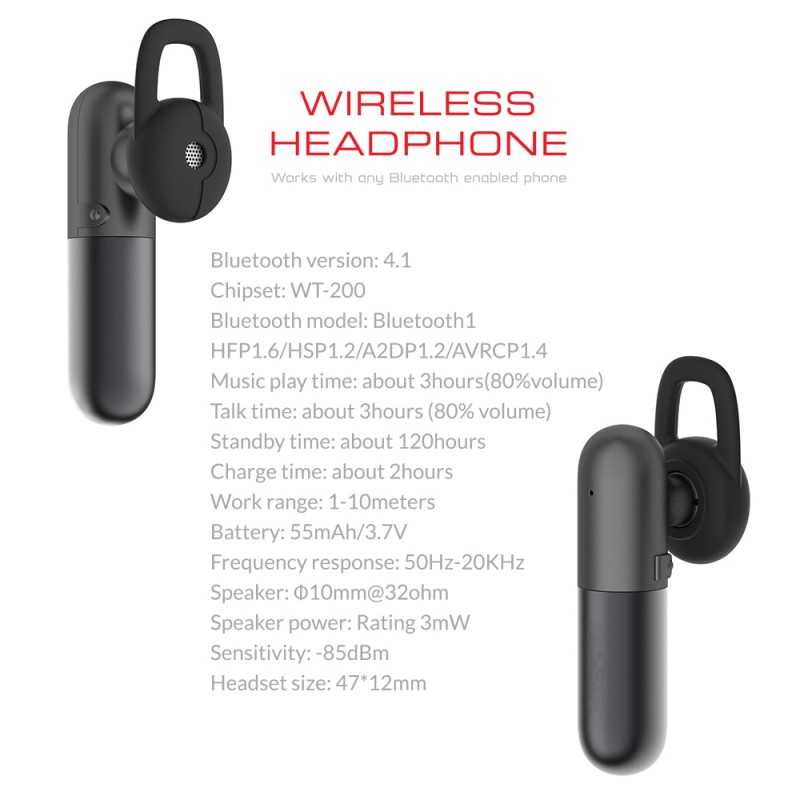 Bluetooth Wireless Mono Earphone