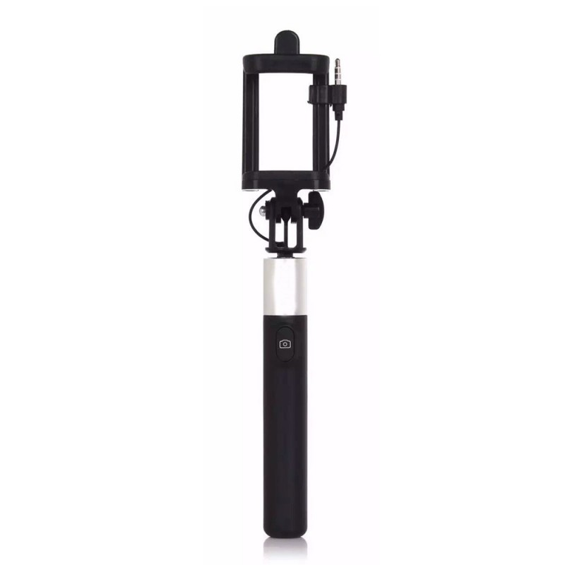 Wired Selfie Stick With Adjustable Monopod