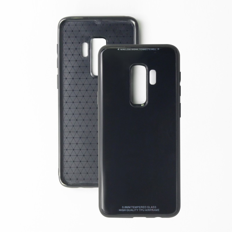 Leather Back Case For Samsung Galaxy S9 Plus