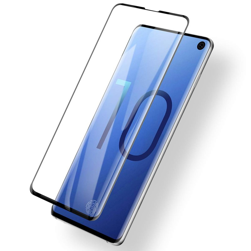 Trands Screen Protective 9H Hard Clear Tempered Glass for Samsung Galaxy S10
