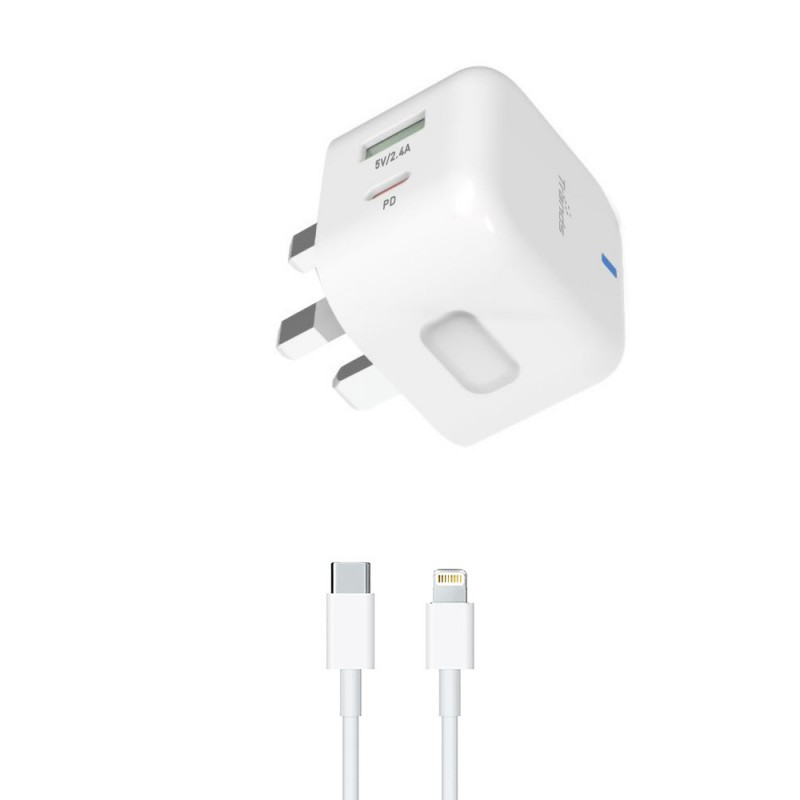 Travel Charger with Dual Port (Type-C and USB)
