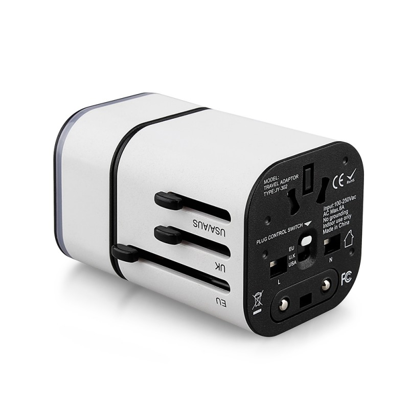 Universal Travel Adapter With UK US EU Plug