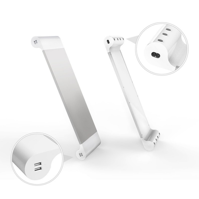 Metal Monitor Stand With 4 USB Charging Port