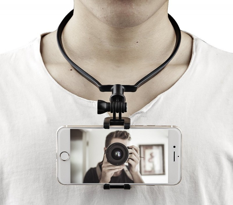 Neck Hands Free Smartphone Holder for Video Recording