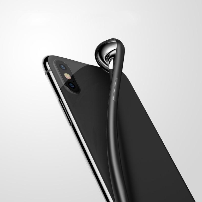 Luxury Leather Coated PC Hard Back Case for Iphone X