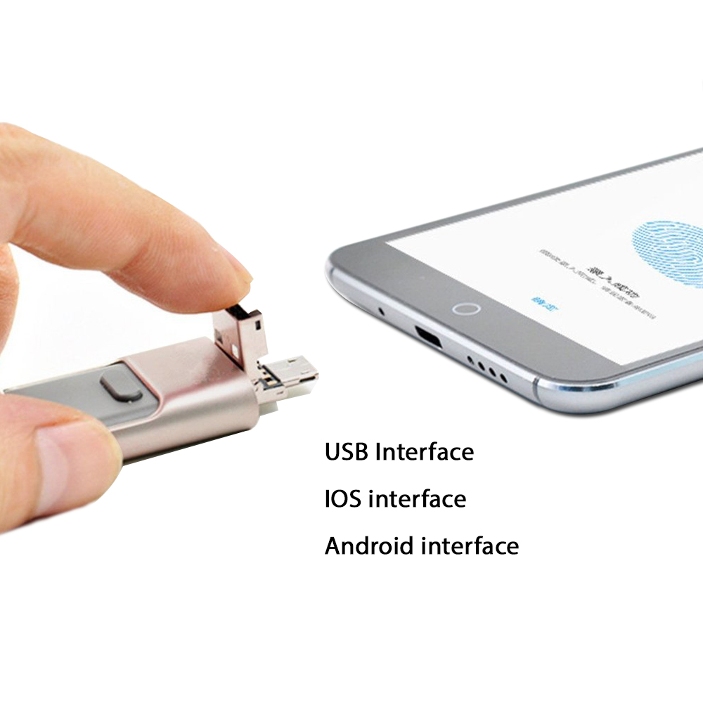3 in 1 Multi Function iFlash for iOS and Android Devices