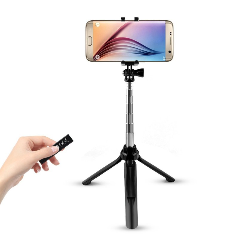 Trands Tripod Bluetooth Selfie Stick Extendable Self-portrait Monopod For IOS Android