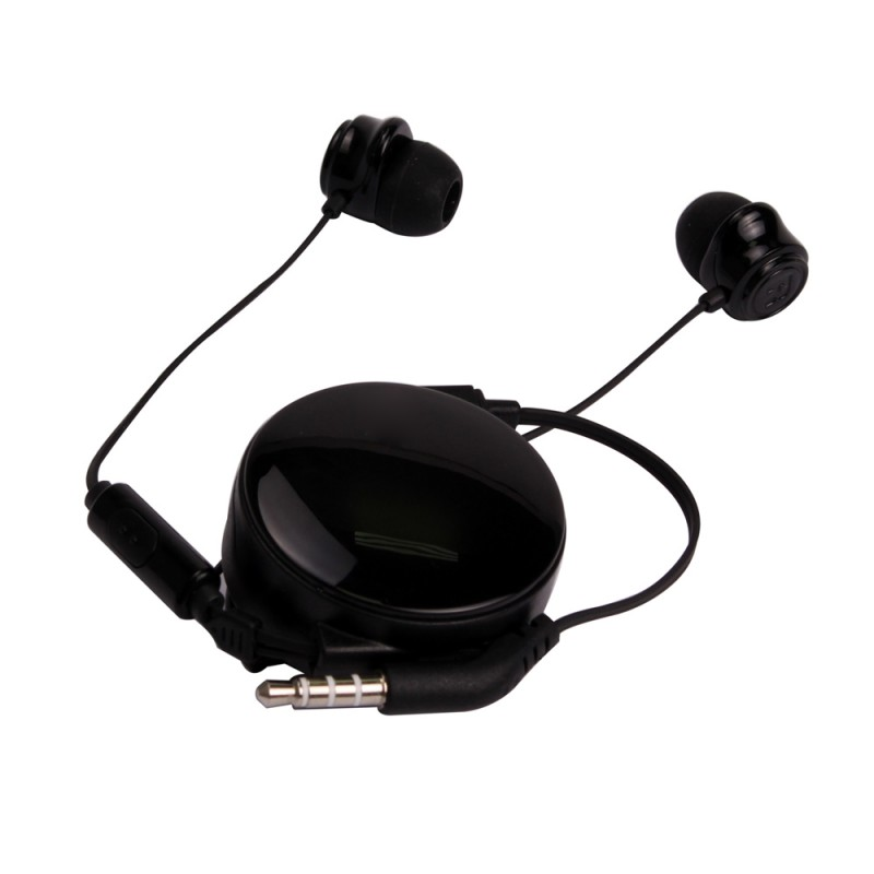 Retractable Stereo Headphone with Micro Phone