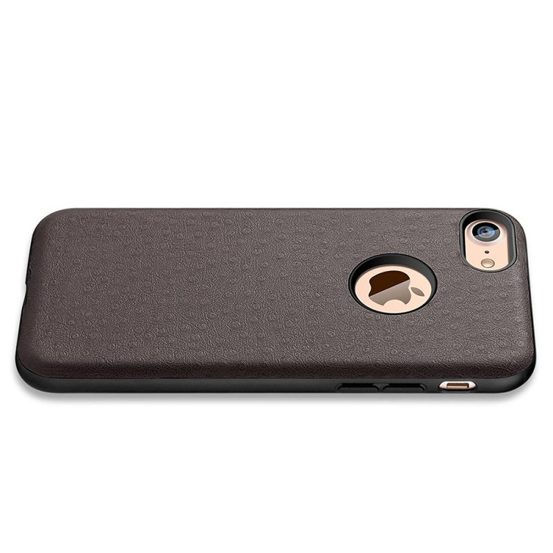 Protective Thin Shell Genuine PU Leather Back Case for iPhone 7