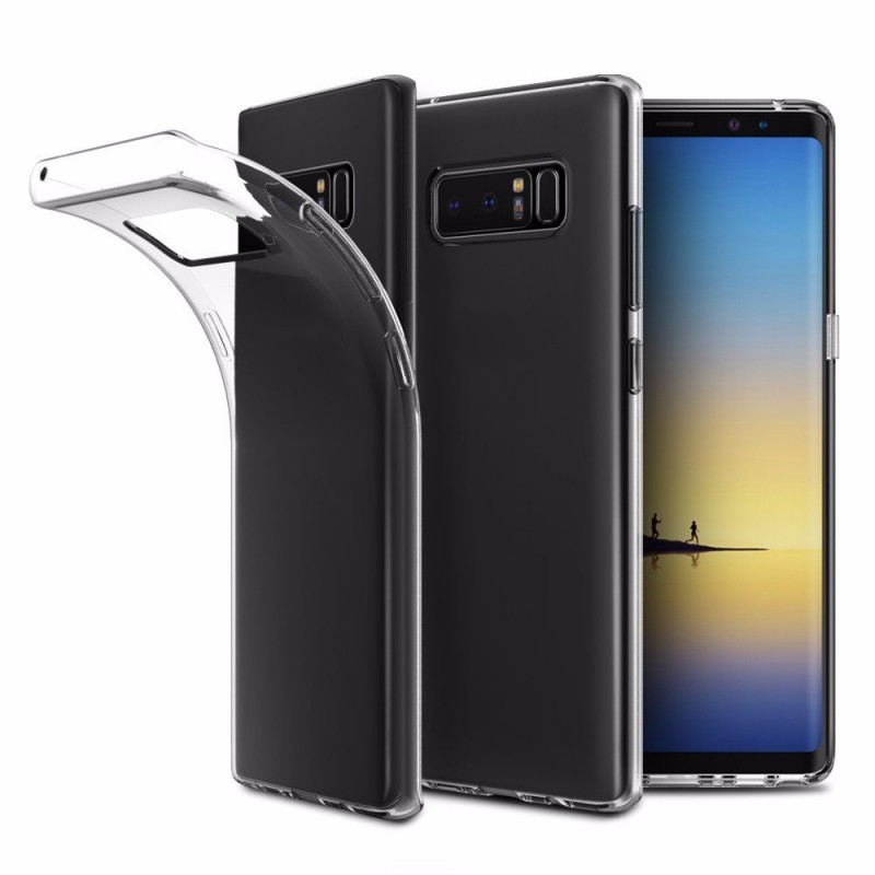 Clear Silicon Back Case for Galaxy Note 8