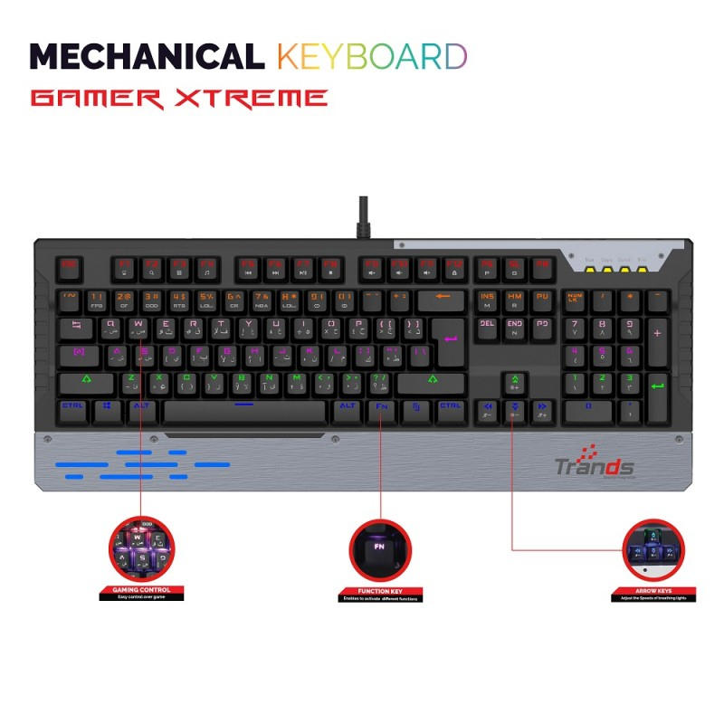 Long Lasting High Speed Technology Mechanical Keyboard with Ultra Responsive Mechanical Switches