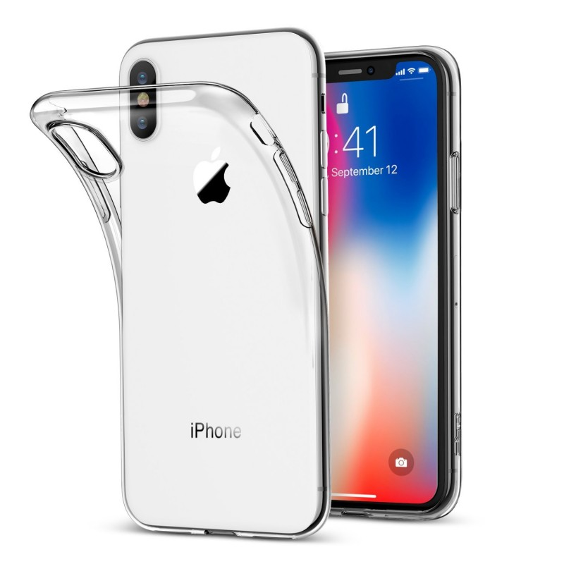 Trands Ultra Slim Scratch Resistant Protection Clear Case for  iPhone X