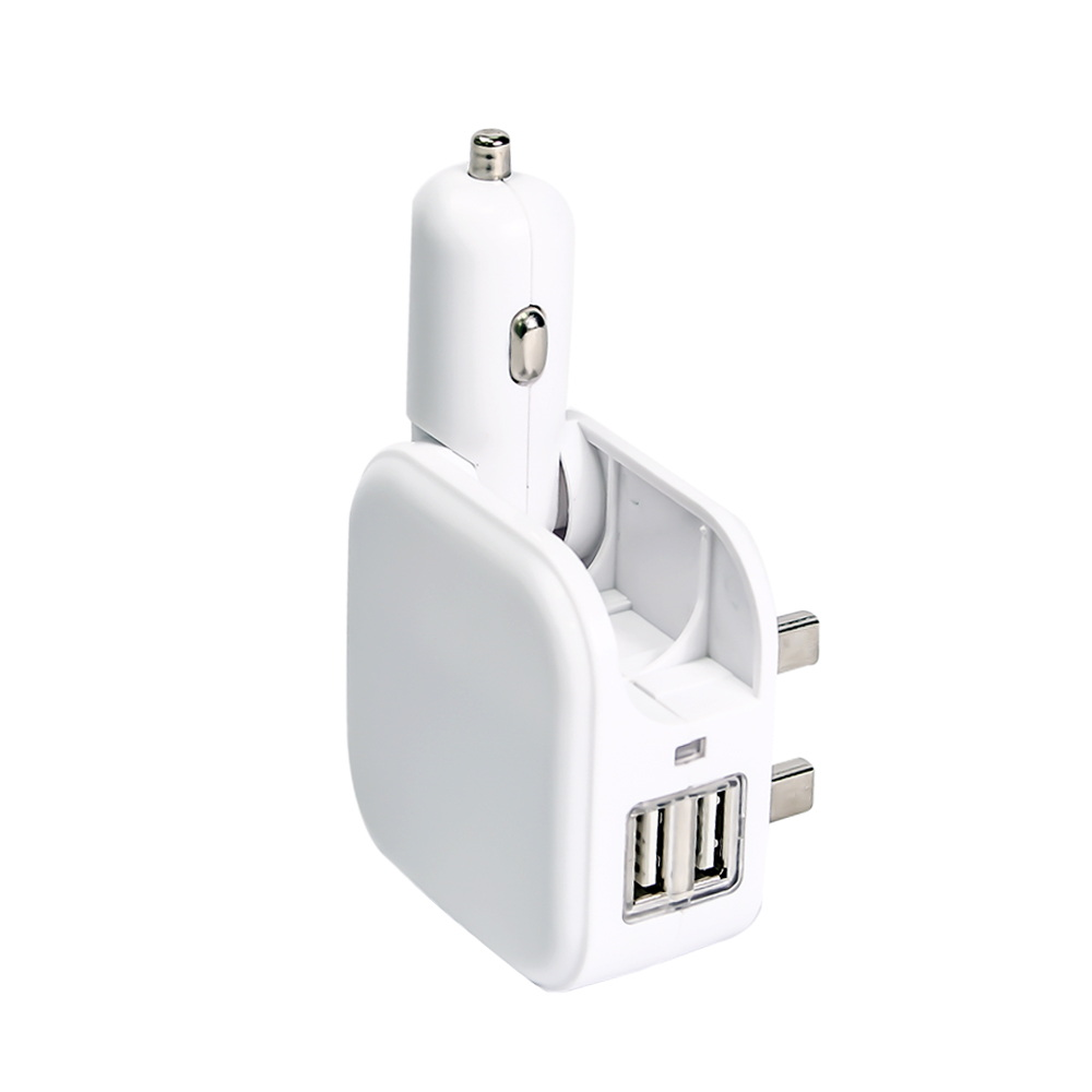 2 in 1 Home and Car Charger With Dual USB Port