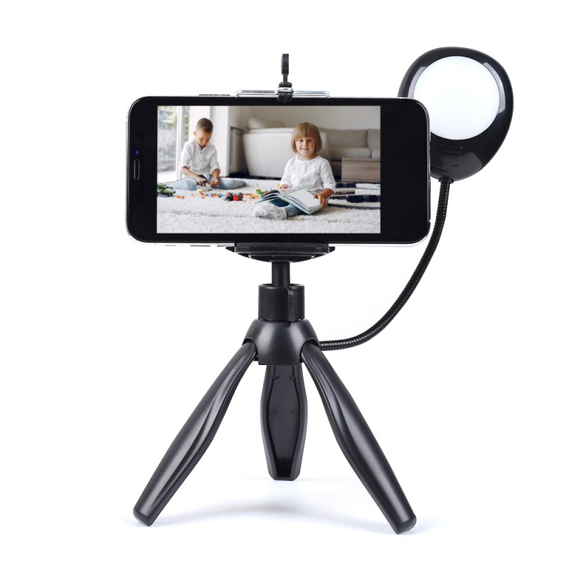 Mini Tripod with Selfie Ring Light