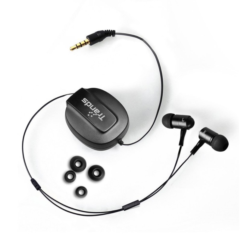 Retractable 3.5 mm In Ear Headset