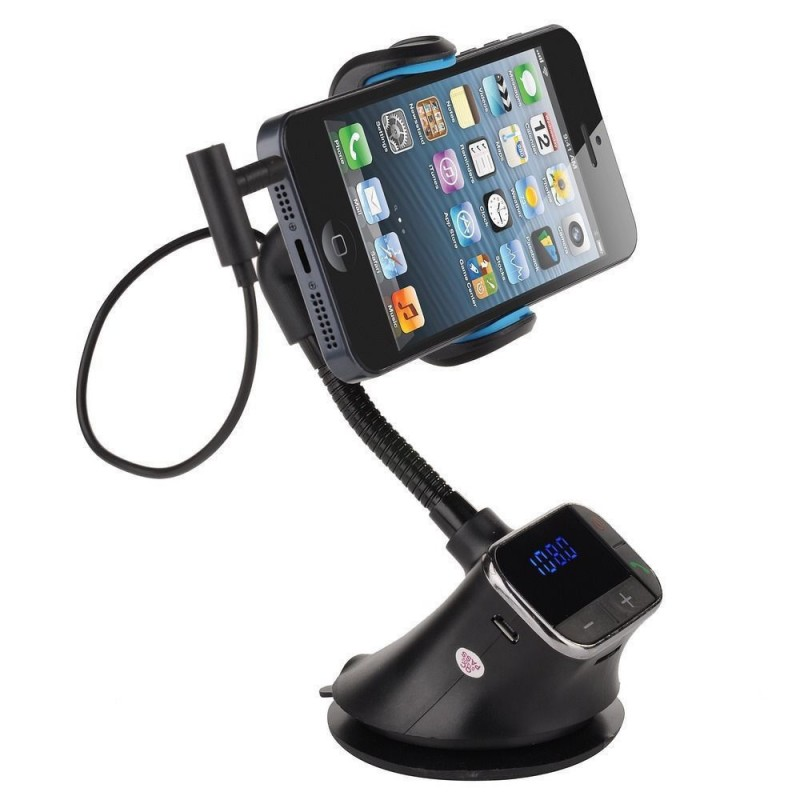 Car Phone Holder With FM Modulator and Car Charger