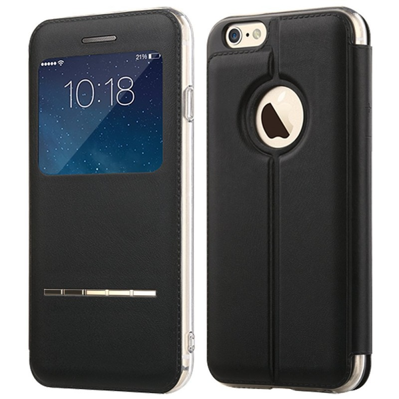 Window Folio Flip PU Leather Case For IPhone 6s Plus