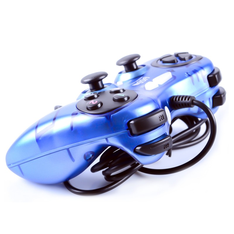 USB 2.0 Dual Shock Vibration Single Controller Gamepad for PC