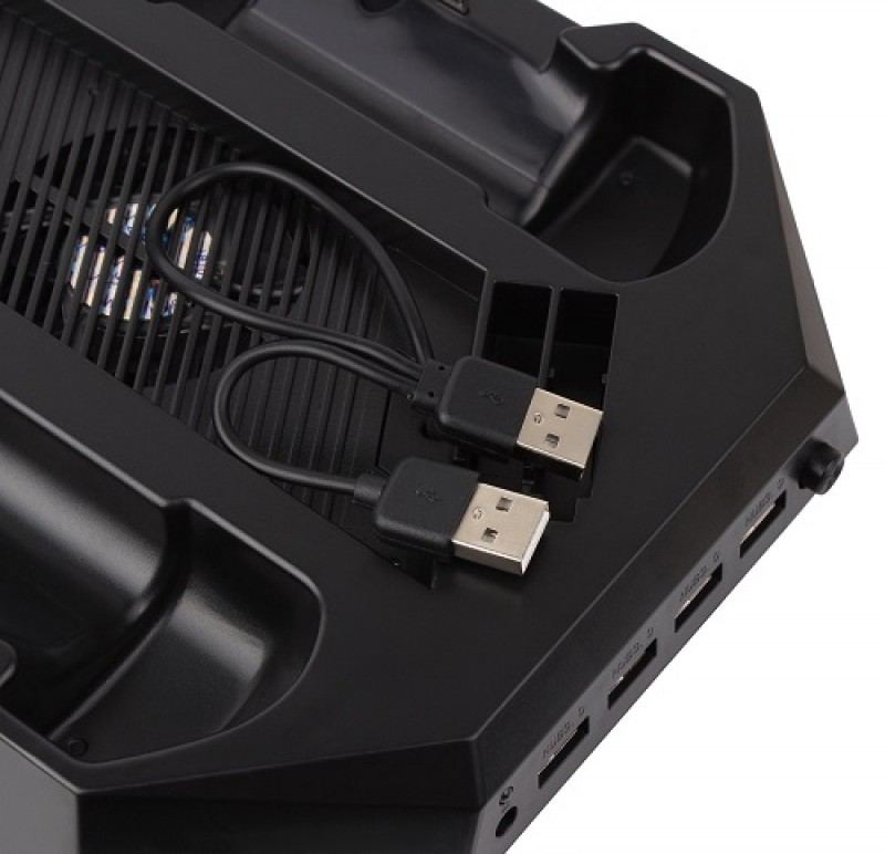 Multi Cooling Fan with USB Charging Hub for PS4 Console & Controllers