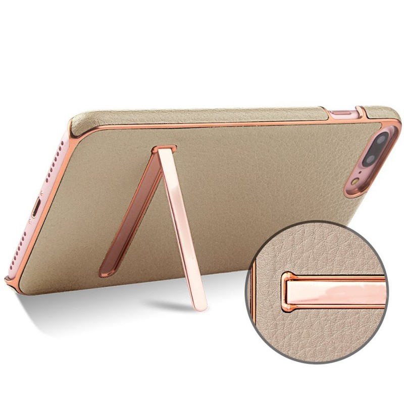 Protective PC + PU Bracket Drop Phone Back Case for iPhone 7 plus