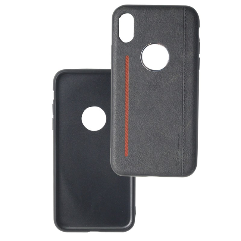Leather back case For iPhone Xs