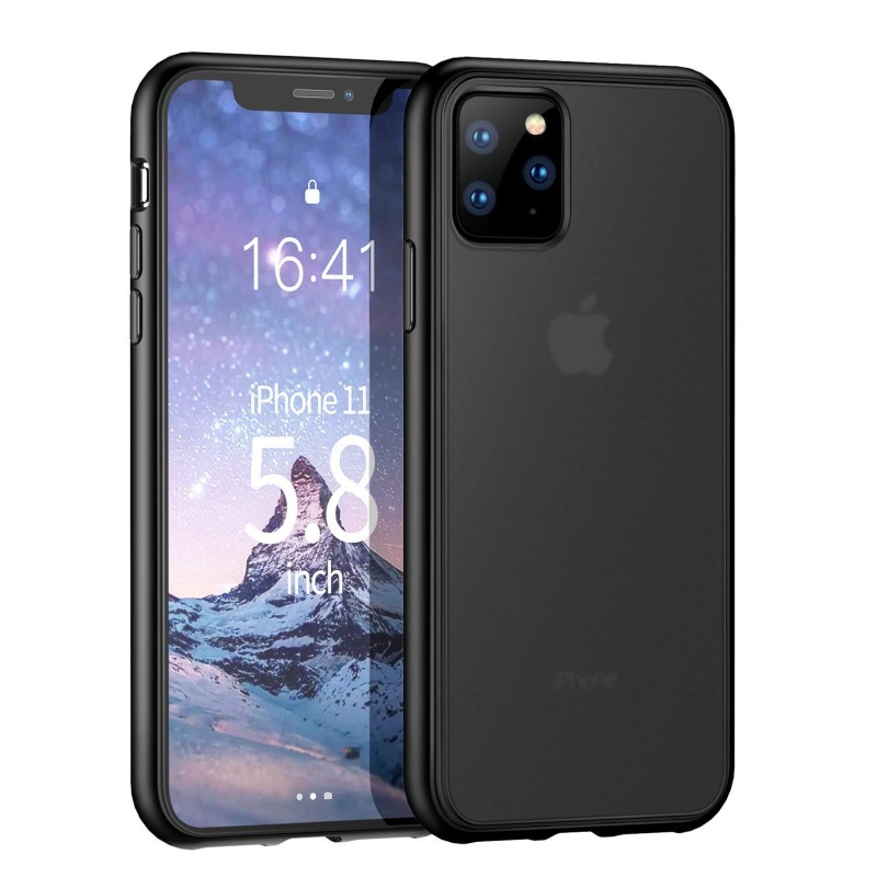 Trands Case for iPhone 11 Pro, Translucent Matte Hard PC Back Cover, Protective Case for iPhone 11 Pro 5.8 Inch 2019, Black