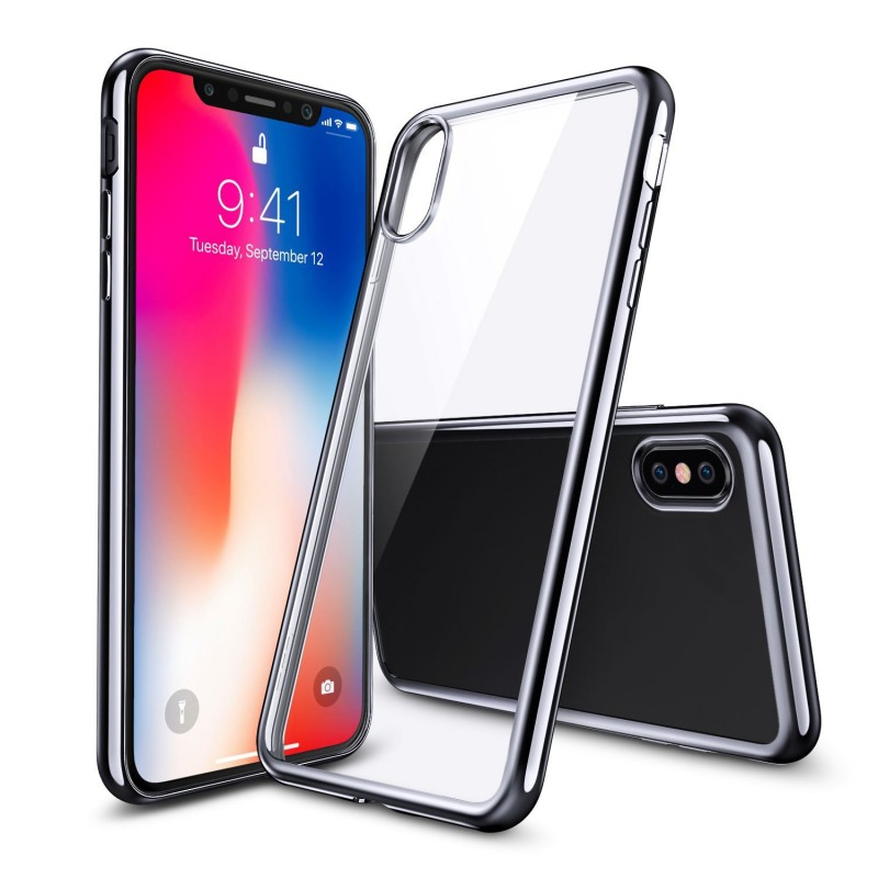 Crystal Transparent Clear Flexible Soft Gel TPU Case for iPhone X