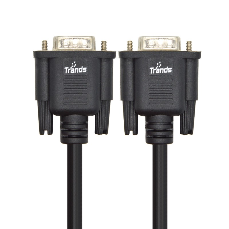 VGA/SVGA HD 15 Male to Male Extension Cable 1.8 Meter Black