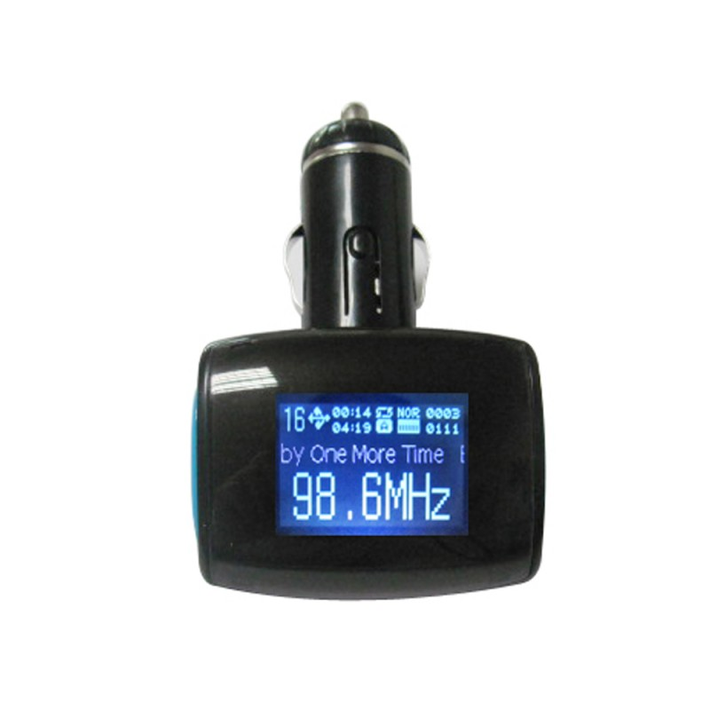 Slim Car charger and FM Modulator With LED Display