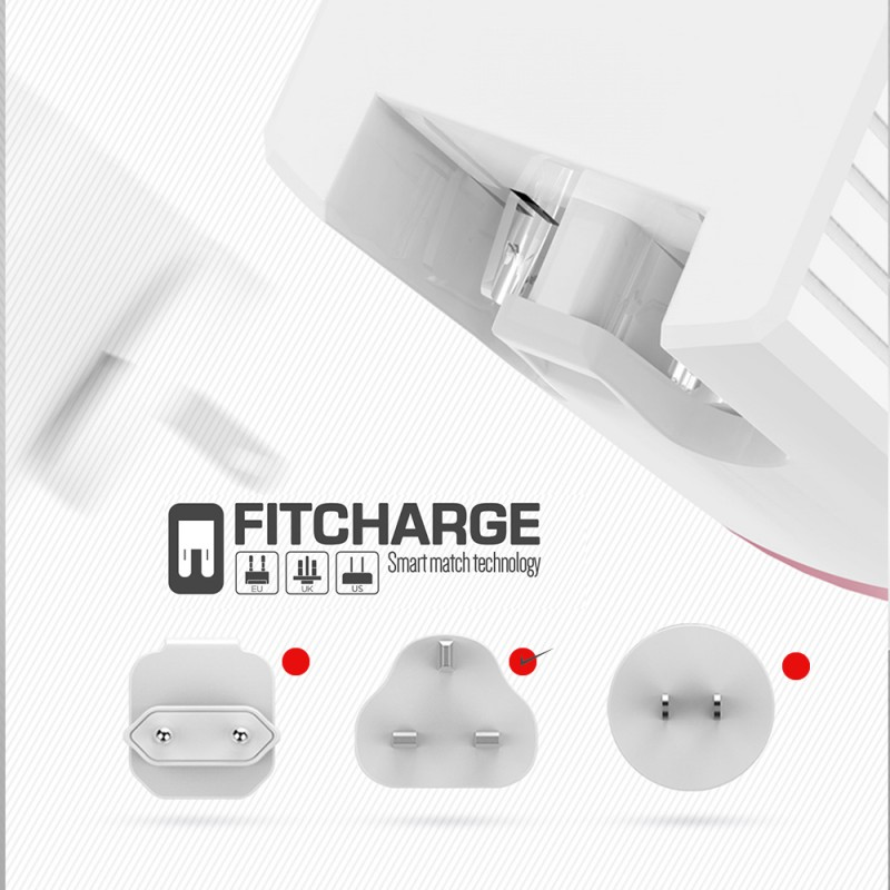 Qualcomm QC 3.0  Single Port USB Fast Charger with Type-C Cable