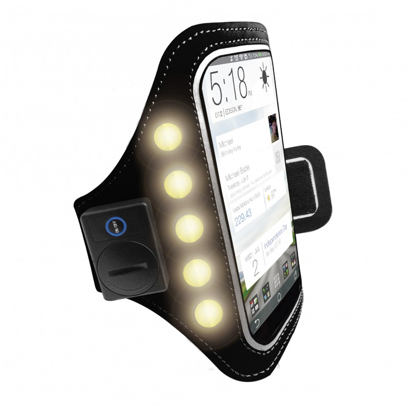 Smart Phone LED Flash Running Sports Universal Armband Case Phone Holder For Smartphones up to 5.5 Inches