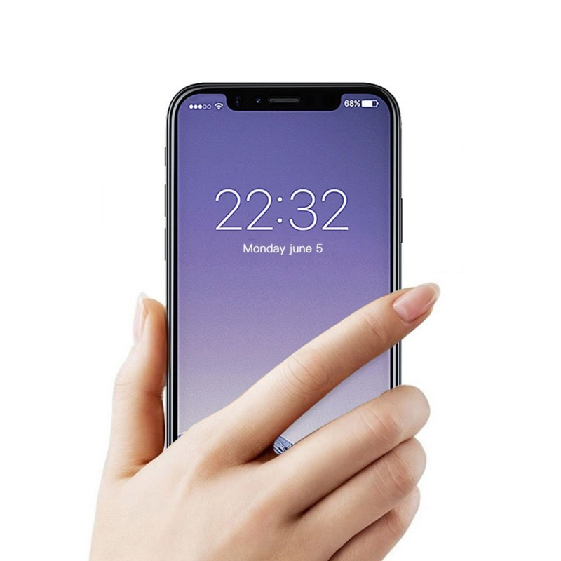 Full Protection 5D 9H Hard Full Transparency Tempered Glass for iPhone X