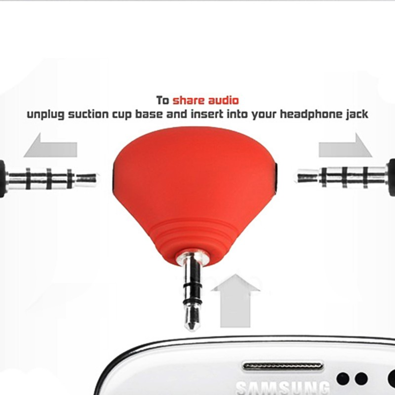 Suction Phone Holder With 3.5 mm Audio Splitter Adapter