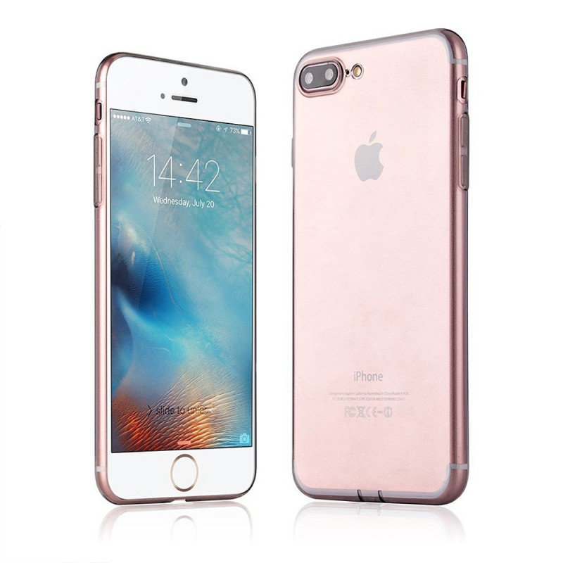 Protective Transparent Ultra Slim TPU Back Case For iPhone 7 Plus